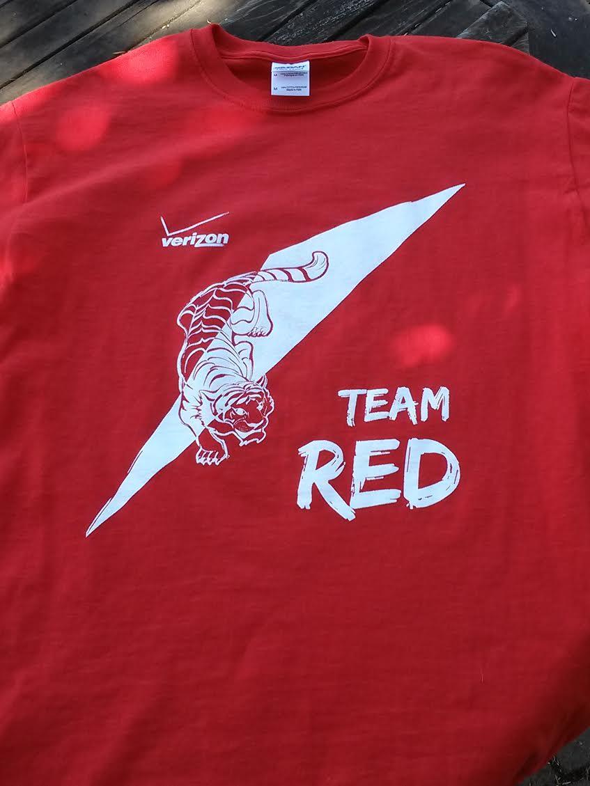 Verizon wireless team shirts f rock printing for Team t shirt printing